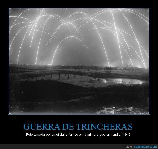 ataque,foto,guerra,morteros,noche,primera guerra mundial,trincheras