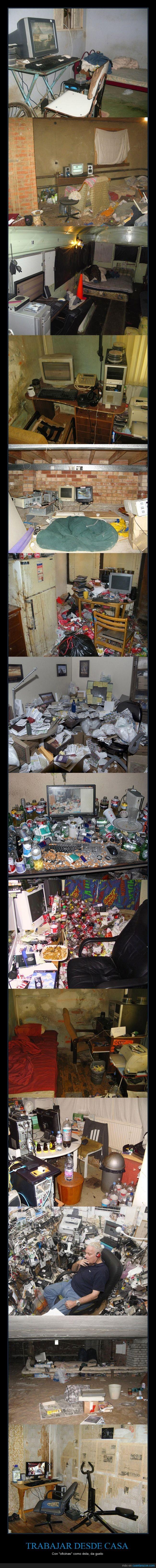 basura,casa,cigarros,colillas,comida,cutre,diogenes,guarrería,habitacion,oficina,ordenador,sucio,trabajar