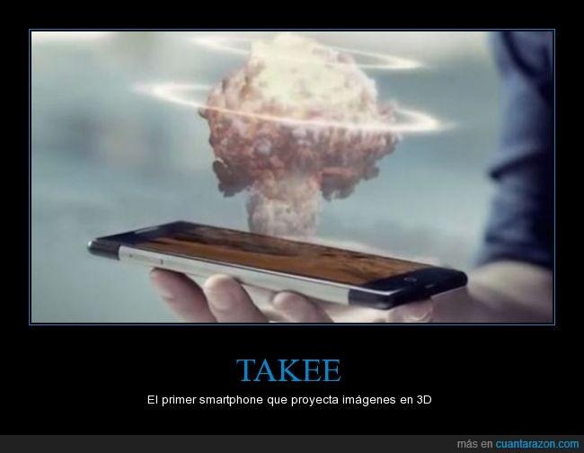hologramas,móvil,proyeccion,proyectar,smartphone,Takee