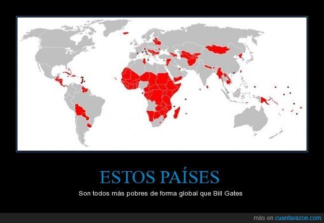 bill gates,general,impresionante,mundo,pais,pobre,pobreza,rojo