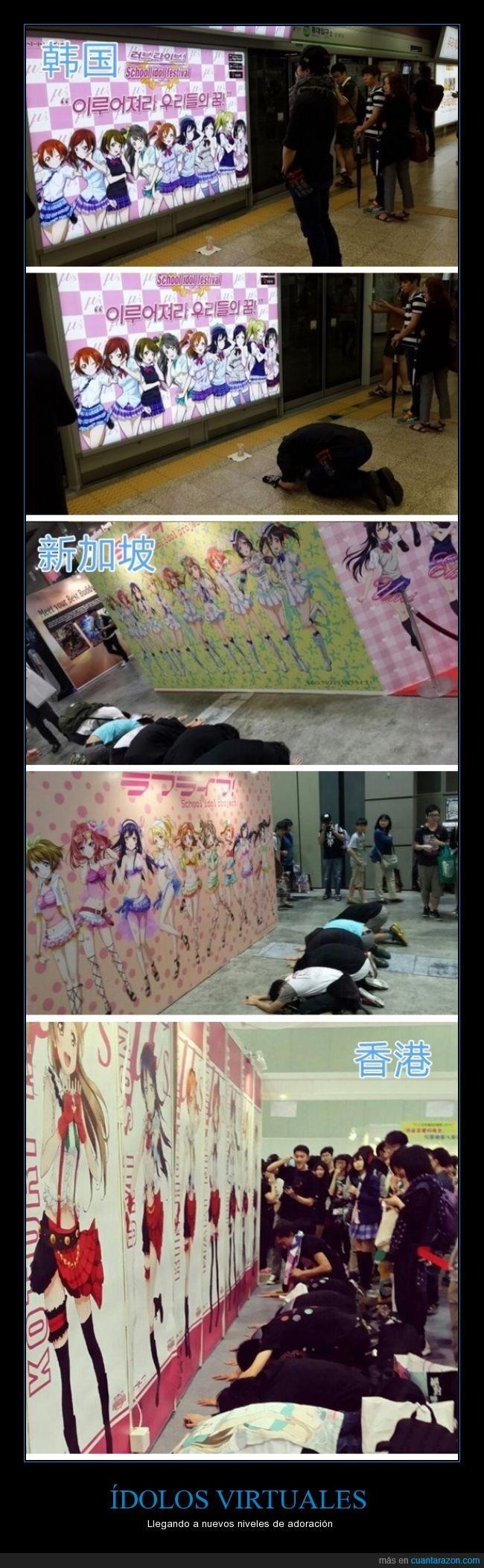 adorar,anime,corea,coreanos,creer,idolos,japon,japoneses,rezar,virtual