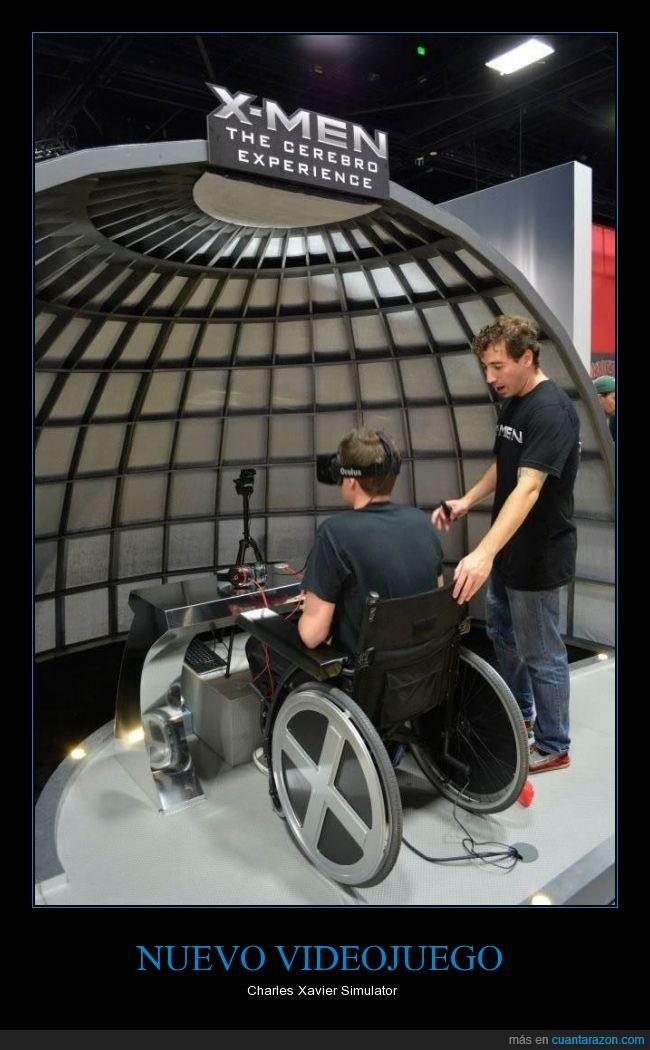 charles xavier,fail,mariodrogspage,silla de ruedas,simulator,xmen