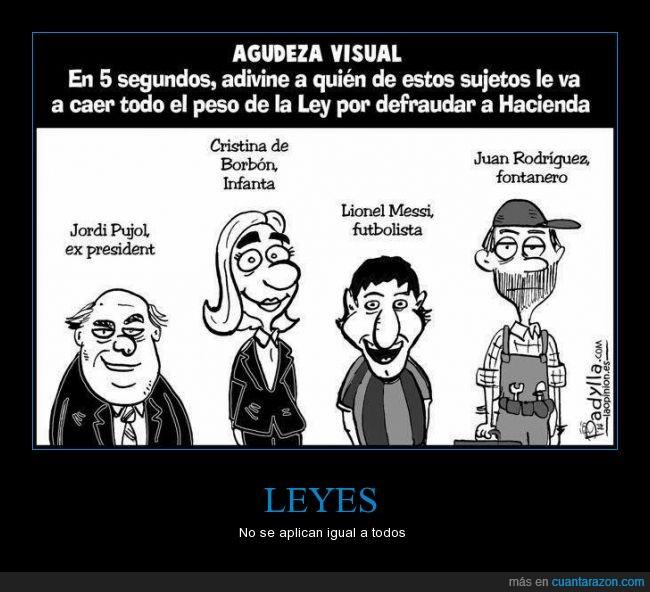 desigualdad,famoso,fontanero,futbolista,infanta cristina,injusticia,jordi pujol,justicia,leyes,messi,politica,president