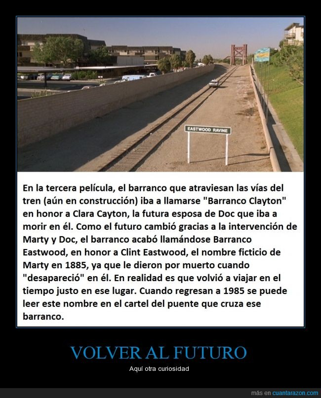 back to the future,barranco,clayton,curiosidades,delorean,doc,marty mcfly,Regreso al futuro,tren