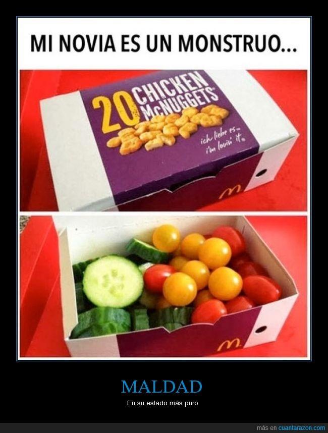 alimento,almuerzo,cena,cherry,comida,frutas,maldad,nugget,pepino,sano,tomate,verduras