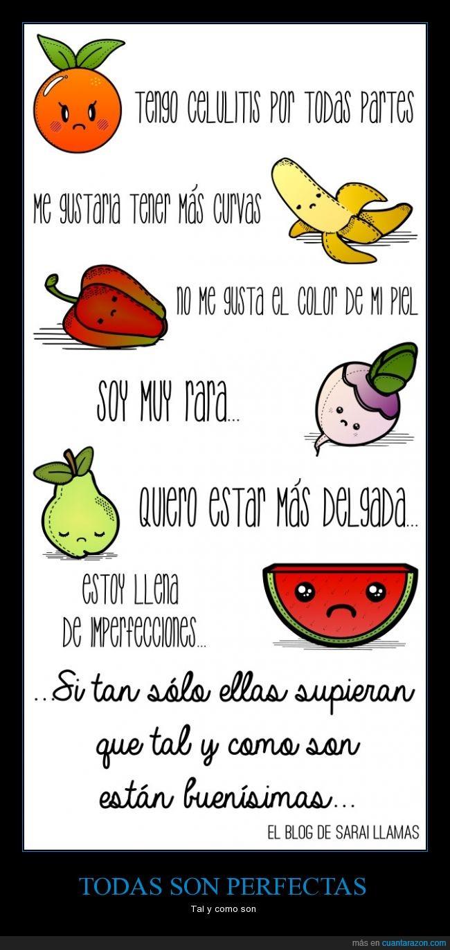 autoestima,buenisimas,celulitis,comida,fruta,mujeres,perfeccion,perfecta