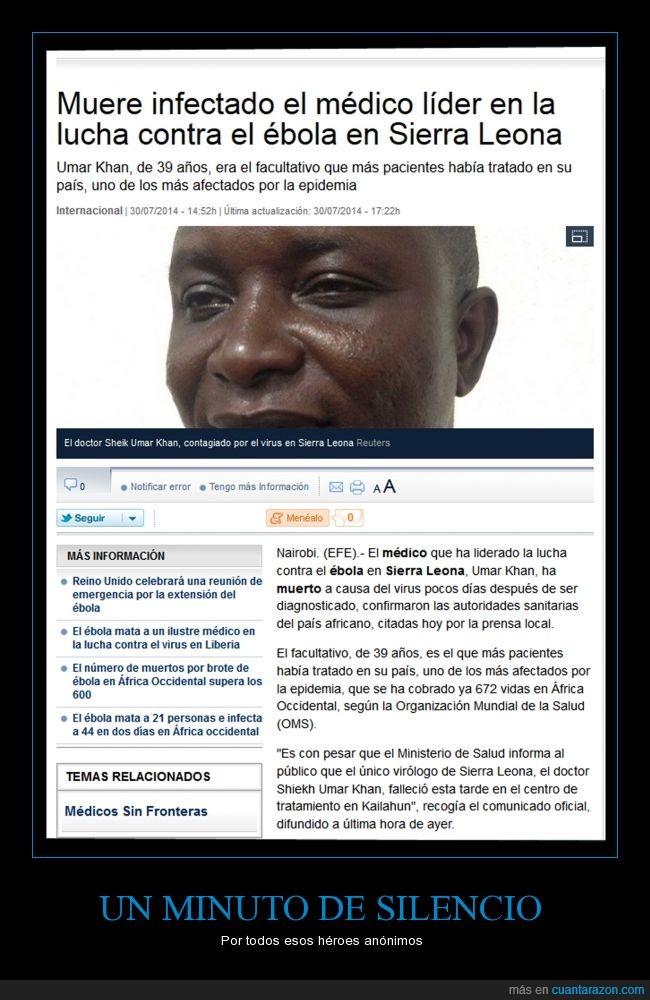 curar,Ébola,infectado,lucha,médico,morir,muerto,salvar,Sierra Leona