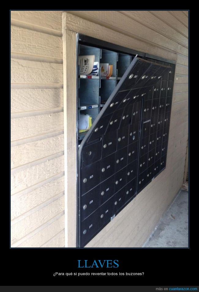 apartados,buzones,correo,llaves,portería,vandalismo