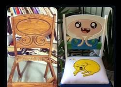 Enlace a Vio la silla y se inspiró