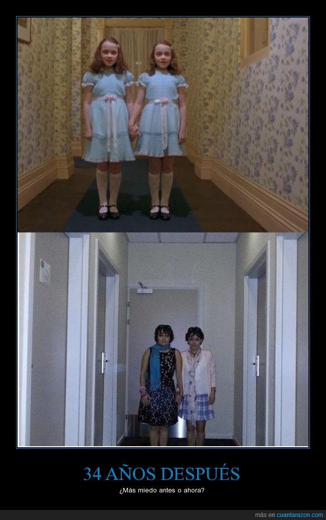 el resplandor,gemelas,hotel,miedo,pelicula,terror