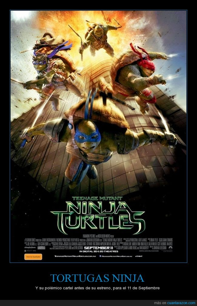 9/11,fail,infancia,peliculas,Polémico,tortugas ninja
