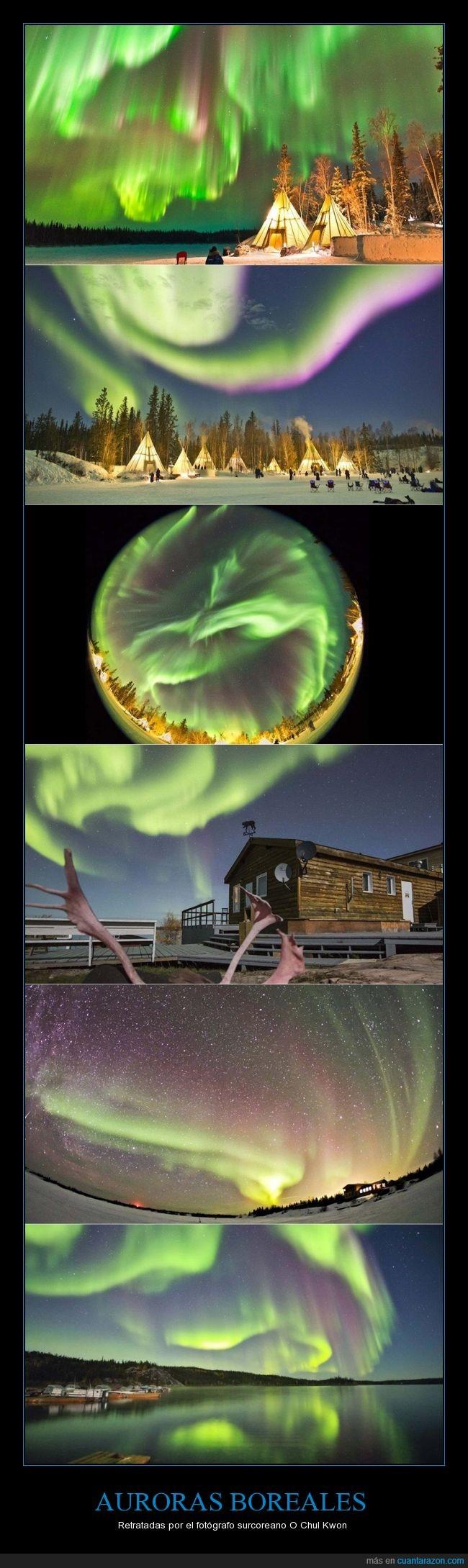 Aldea de la Aurora,auroras boreales,Canadá,Corea del Sur,espectáculo,fotógrafo,hermoso,impresionante,O Chul Kwon,Seúl,Yellowknife