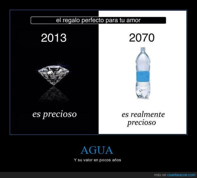 Agua,diamante,reciclar,valor
