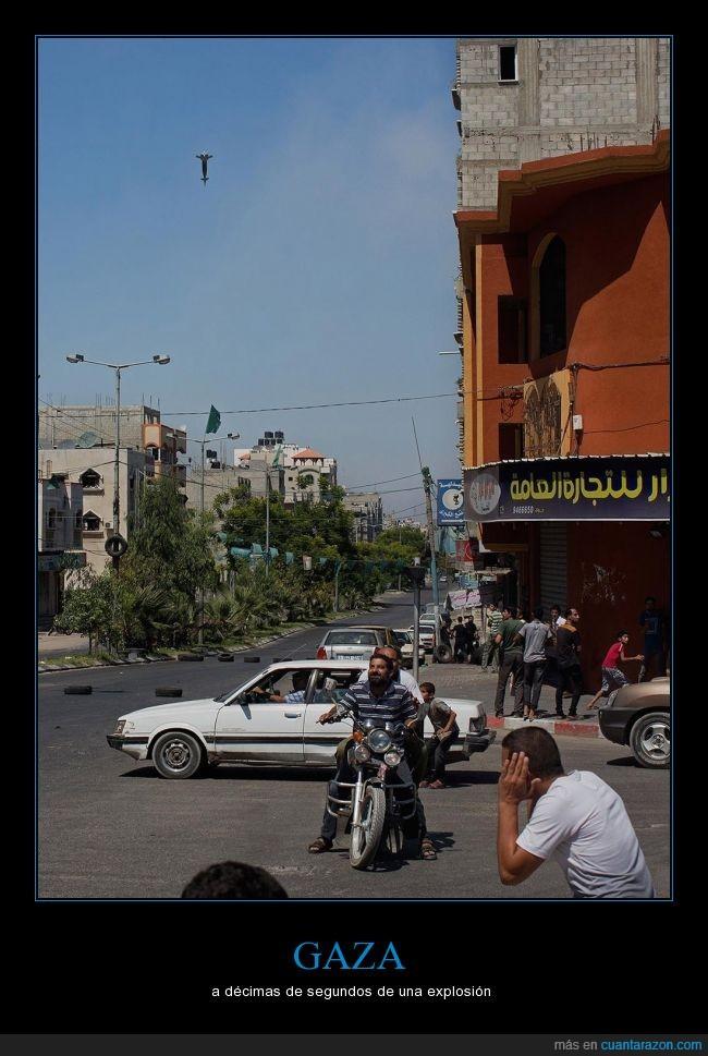 atentado,ejercito,explosión,gaza,israel,misil,palestina,pánico