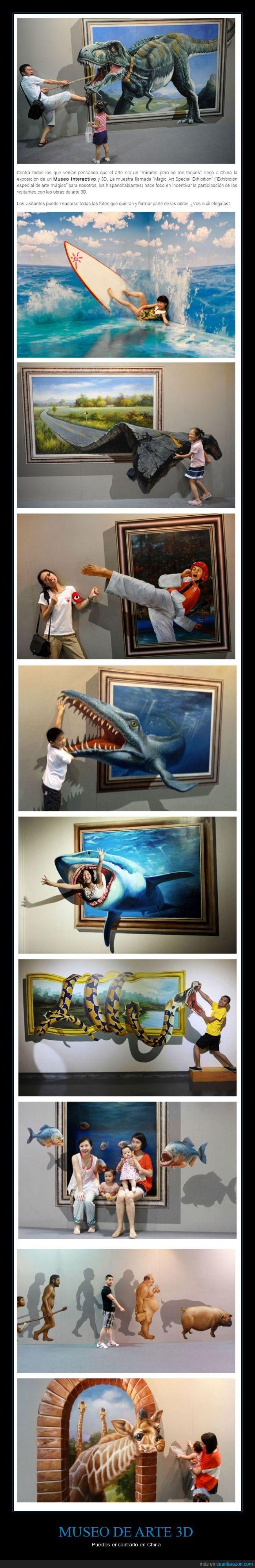 3D,China,dibujo,museo,realidad