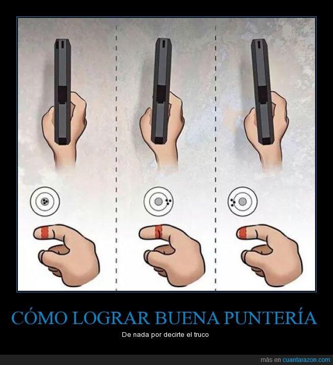 arma,dedo,disparo,pistola,puntería,tiro