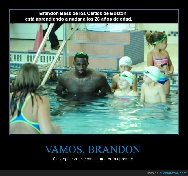 aprender,Boston,Brandon Bass,Celtics,nadar,piscina,tarde