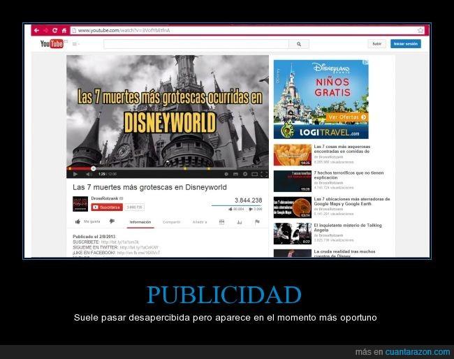 conspiración contra niños,creepy,Disneyland,Disneyworld,gracias por leer las etiquetas,muerte,Niños gratis,publicidad