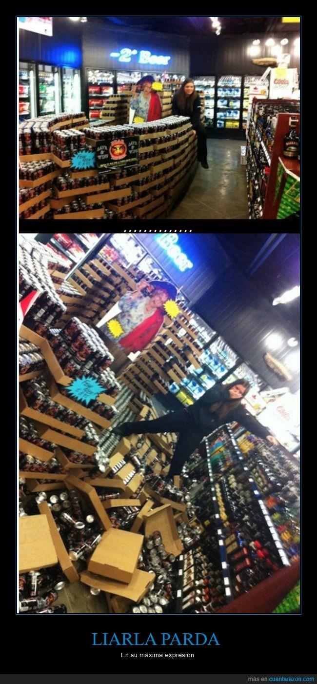 derribo,latas,supermercado