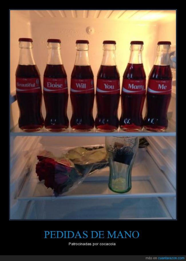 boda,botellas,cocacola,nevera,nombres,pedida de mano,refresco