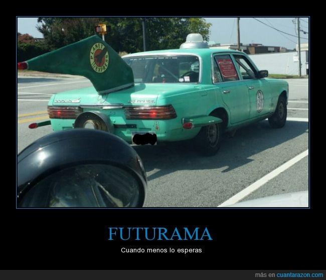 coche,futurama,planet express,tráfico