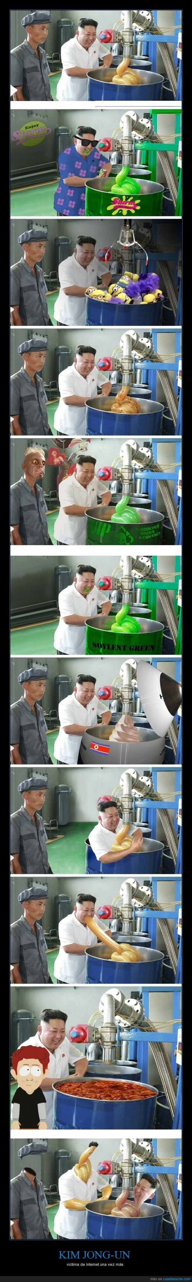 bromas,burla,chops,corea,fabrica,internet,kim joung un,lider,minions