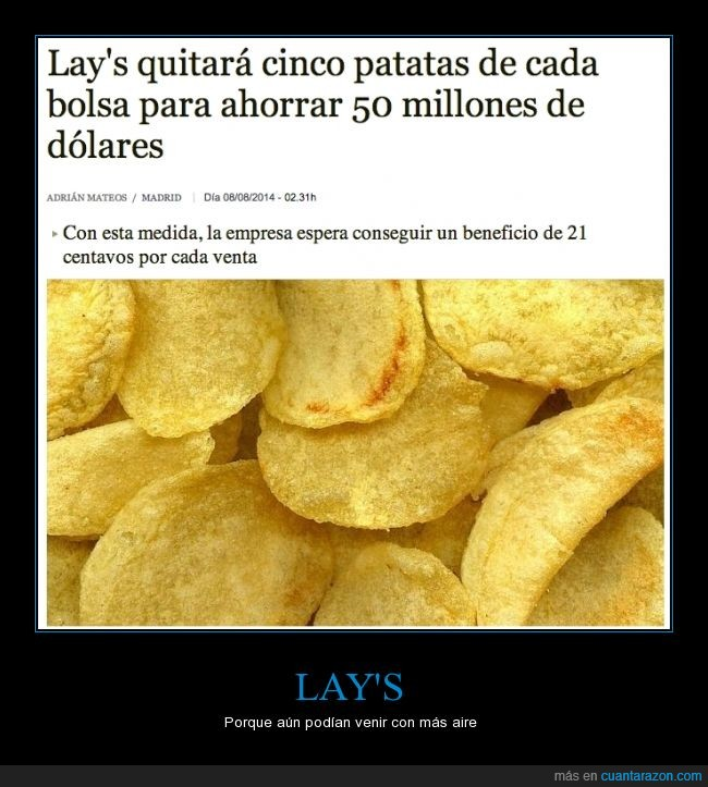 aire,bolsas,lays,patatas,vergüenza