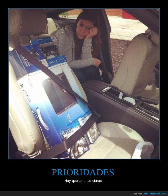 asiento,coche,conductor,consola,novia,playstation 4,ps4