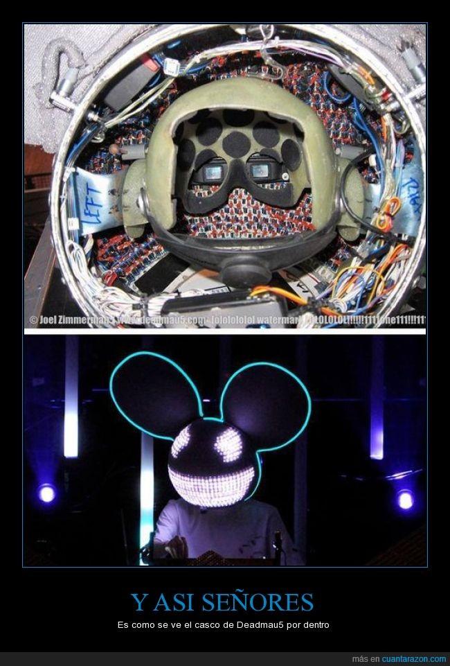 casco,deadmau5,dentro,dj,impresionante,musica,raton