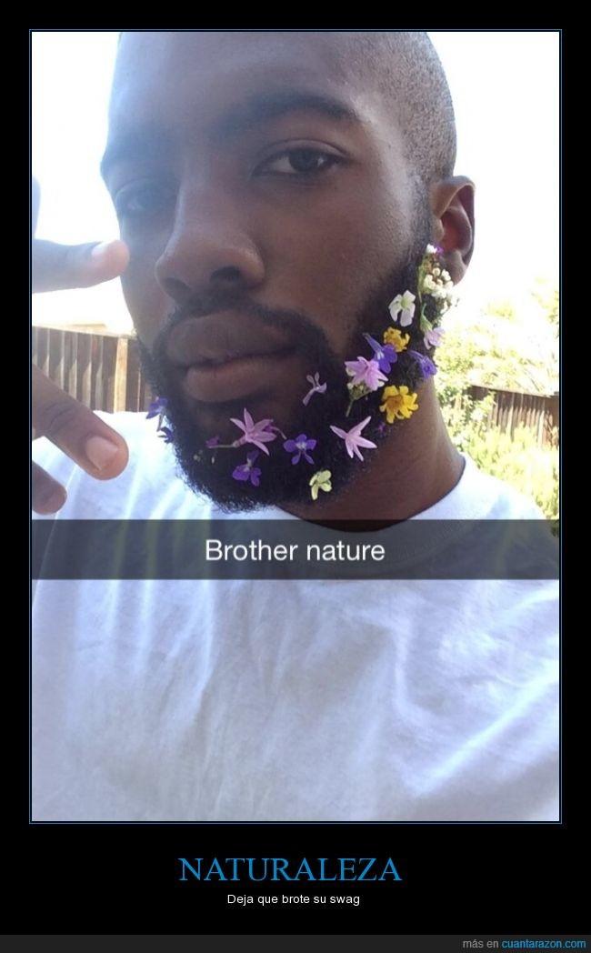 barba,flores,natural,petalos,rosas,swag