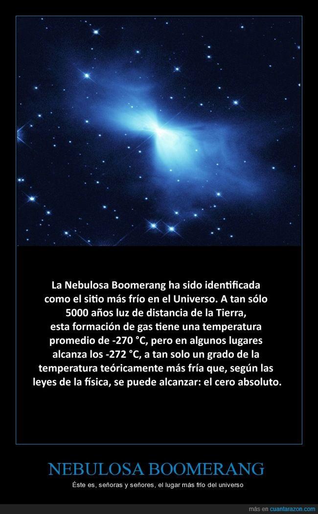 astronomía,ciencia,frío,nebulosa,récord,zero absoluto