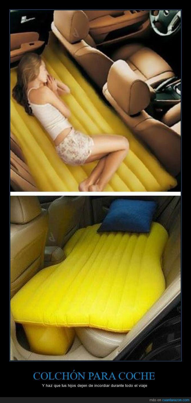 cama,coche,colchón,descansar,dormir,imagina las posibilidades,se podría hacer otras cosas