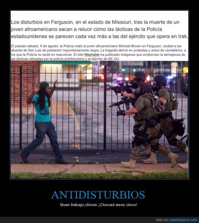 armas de guerra,buen rollo,disturbios,Ferguson,missouri