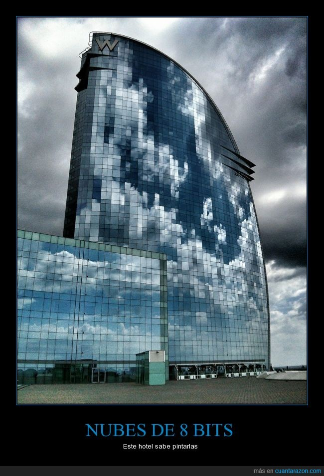 8 bits,barcelona,hotel w,mas o menos,nubes