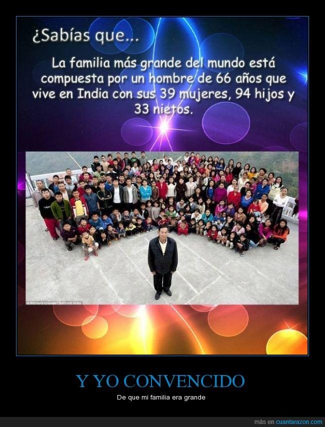 esposas,familia,grande,hijos,nietos,record