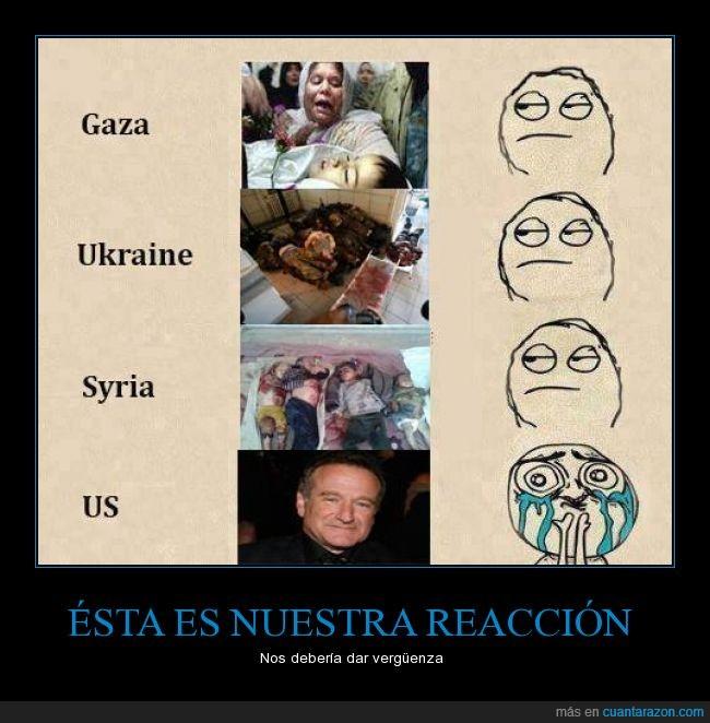 gaza,guerra,llorar,muerto,mundo,niño,robin williams,siria,triste,victimas