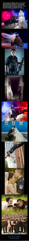 album,boda,comisaria,espectacular,fotografias,matrimonio,novia,novio,policia,swat