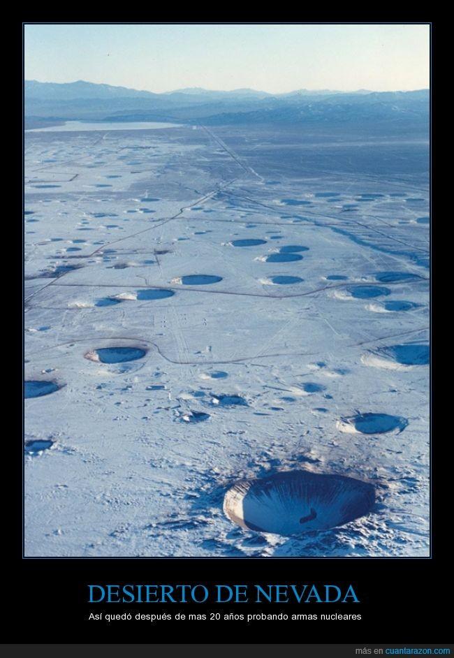 20 años,armas,crater,desierto,despues,las vegas,nevada,nucleares,nuke,probando