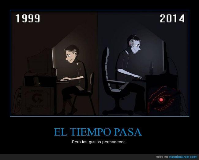 cambiar,cambios,gamer,jugar,ordenador,paso,pc,tiempo,viciar