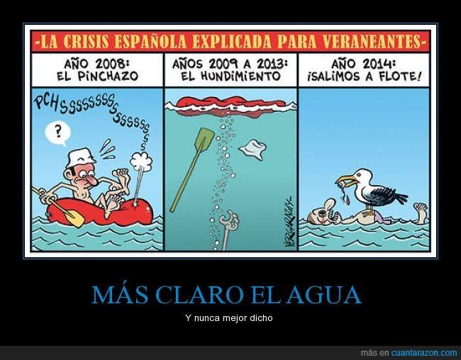 comer,crisis,españa,española,flotar,flote,hundir,pinchar,playa,veraneantes