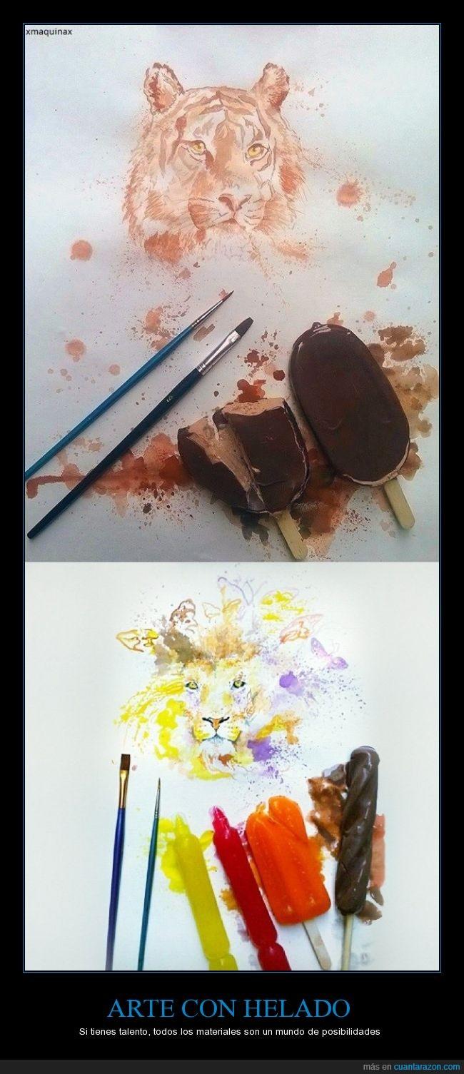 arte,color,colorante,helado,ilustracion,leon,tigre