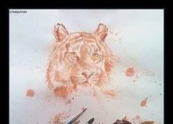 Enlace a Un Tigre y un León dibujados con...