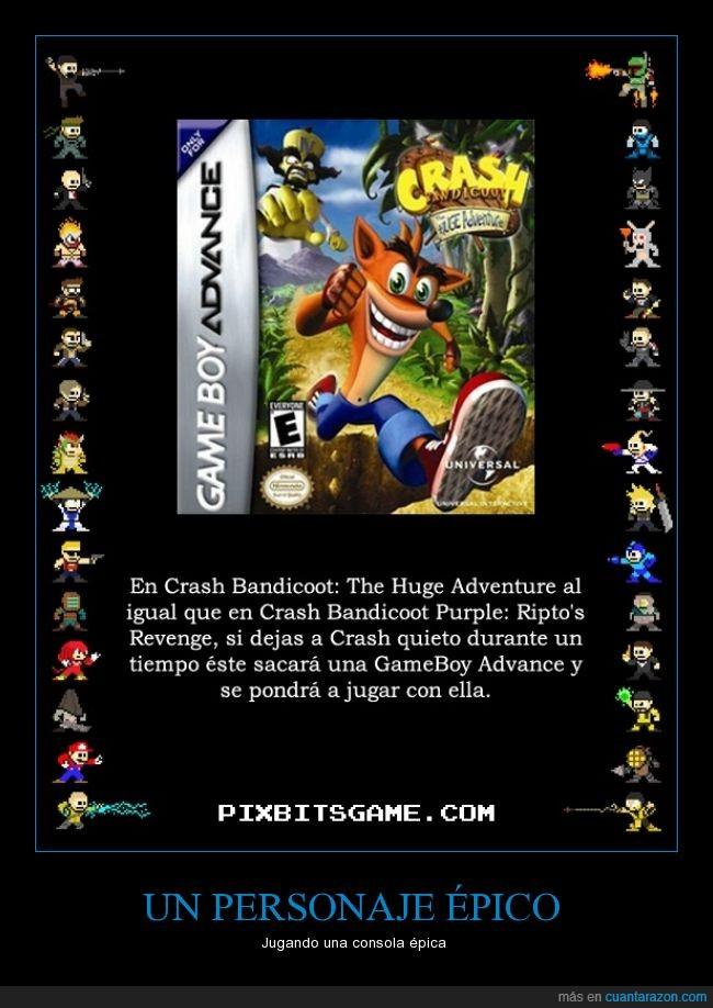 Bandicoot,Crash,GameBoy,juegos,Nintendo,Videojuegos