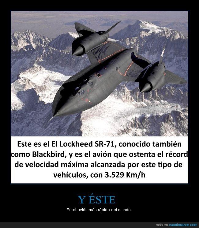 avión,Blackbird,Lockheed,rápido,récord