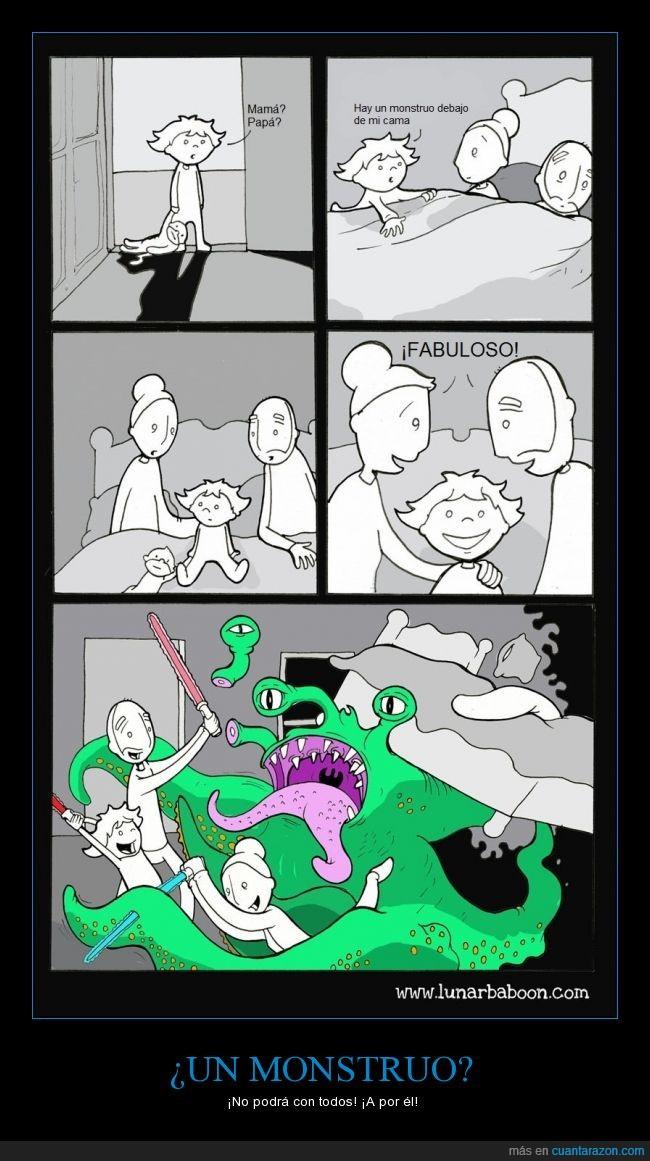 comic,fabuloso,jugar,lunarbaboonm familia,madre,miedo,monstruo,padre