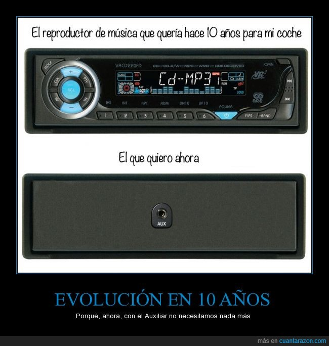 auxiliar,cable,coche,evolucion,movil,radio,smartphone,stereo