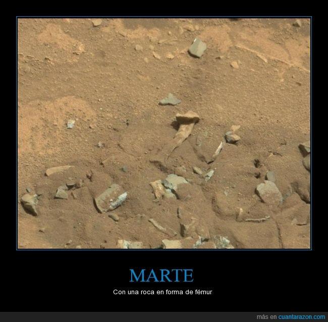 esqueleto,fémur,Hueso,marcianos,marte,roca