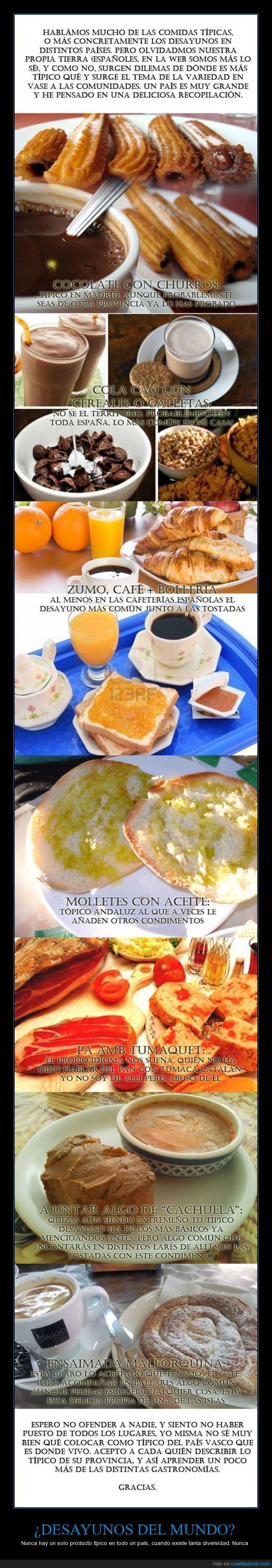 Desayunos,diferentes,España,Montaje Propio,no tiene todo,Perdonad la ausencia de algunas tildes odio mi PS,Que disfruten del desayuno de mañana ;D