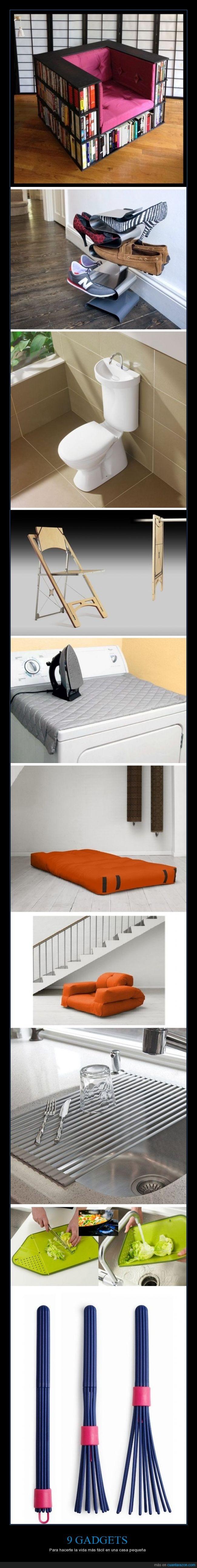 cama,casa pequeña,cocina,colchon,fácil,gadgets,lavabo,objetos,silla,sofa,vida