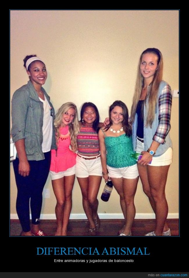 alta,altura,animadora,bajita,baloncesto,basket,basketball,cheerleader,diferencias,porristas